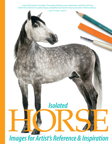 Isolated Horse Images for Artist's Reference and Inspiration, a book of horse pictures