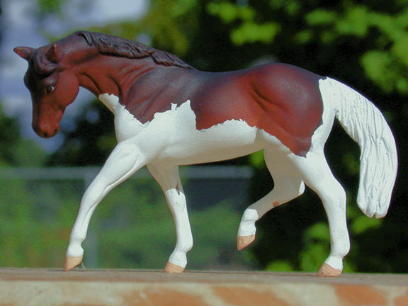 splash paint custom model horse by Sarah Tregay