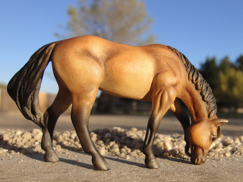custom mini model horse by Sarah Tregay (Breyer Stablemate QH)
