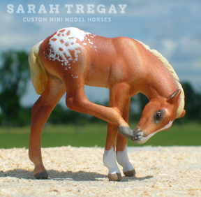 Custom mini model horse - Appaloosa foal by Sarah Tregay