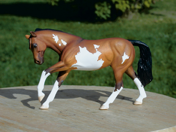 paint overo custom model horse by Sarah Tregay